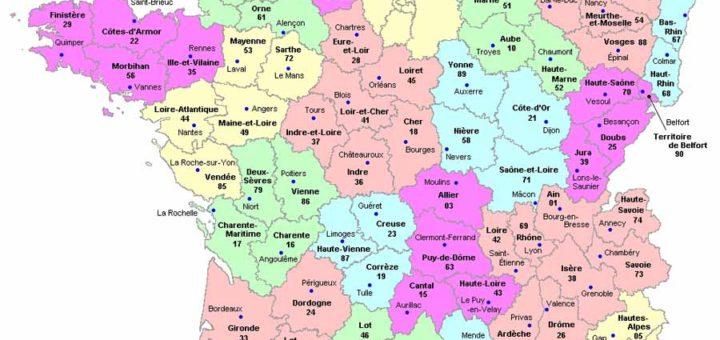mapa departmentos francia